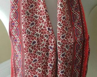 Summer Sale: ANNE KLEIN Silk Paisley Scarf