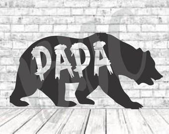 Papa Bear, SVG, PNG, DXF, Vinyl Design, Circut, Cameo, Cut File, Dad Decal, Dad shirt, Fathers Day svg, Dad Svg, Father Svg, Papa Bear Svg