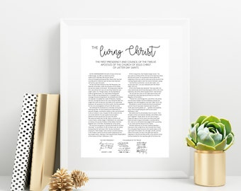 The Living Christ | 8x10, 11x14 | Digital Print | Instant Download | Inspirational | LDS