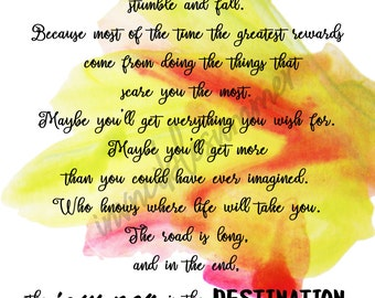 The Journey is the Destination Printable Art, Wall Art, Printable Sign, Quote