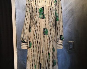 1970s floral dress- XL