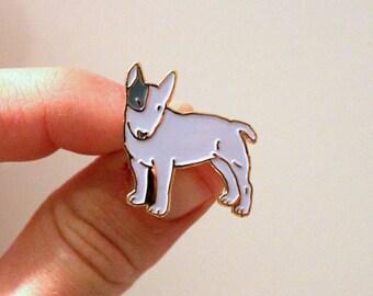Bull Terrier Enamel Lapel Pin