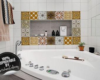 Adesivi per piastrelle mosaico etsy for Adesivi per mattonelle