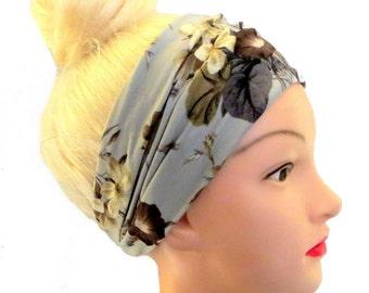 Floral Autumn wide Headband Boho Bohemian Hairband Bandana Headwrap