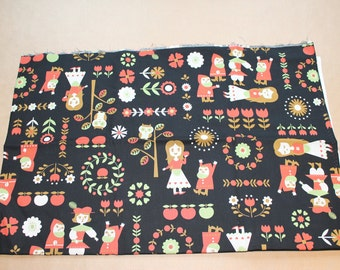 Fabric remnant - snow white and the seven dwarves - Kokka made in japan