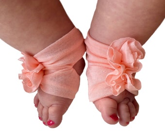 Pink Baby Shoes - Pink Sandals - Newborn sandals - Baby Sandals - Baby Barefoot Sandals -  Newborn Sandal - Newborn Shoes - Infant sandals