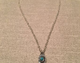 The MIMI / Turquoise + Silver Lariat Necklace