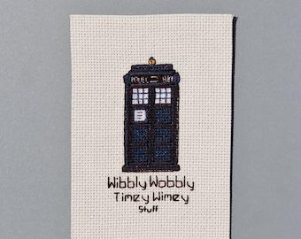 Doctor Who Cross Stitch Fan Art - Tardis & Wibbly Wobbly Timey Wimey Stuff
