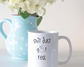 Engagement mug, engagement gift for her, wedding mug, wedding gift, swearing mug, funny engagement mug, funny mug