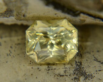 2.09ct Natural Yellow Sapphire 7.08x5.94 mm Octagon Cut UNHEATED Top Quality from Sri Lanka Yellow Ceylon Sapphire Ring Natural
