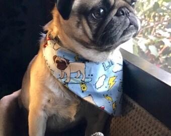 Pug Life CUSTOM MADE Premium Dog Bandana