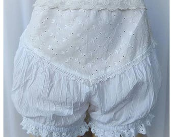 Lacy cotton bloomers