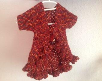 Circle vest, girl vest hippie vest crochet vest Gr. 110/116