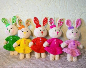Pattern Crochet Bunny Amigurumi Crochet Rabbit Easter Bunny Amigurumi Stuffed Animals Crochet Toy Patterns