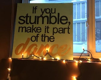 If You Stumble Wooden Wall Plaque, Wooden Sign, Wall Words, Quotes, Inspirational Decor