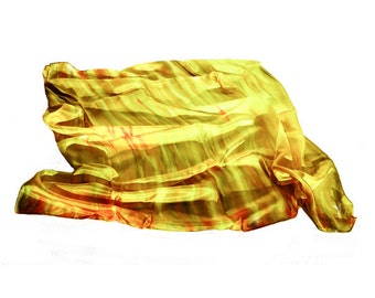 "Hand painted silk scarf-""forest of Colors"""