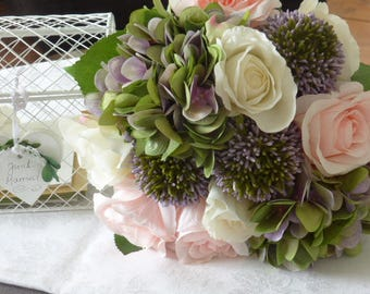 Bridal bouquet * rose & hydrangea *.