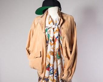 70s jacket•Vintage sport jacket•Suede blazer•Womens leather jacket•Women's Suede Jacket•Suede bomber•Camel womens Suede Blazer•sand blazer
