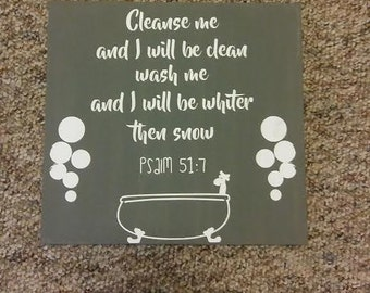 cleanse me bathroom sign
