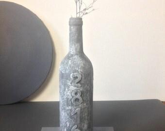 Unique Upcycling vase in concrete look
