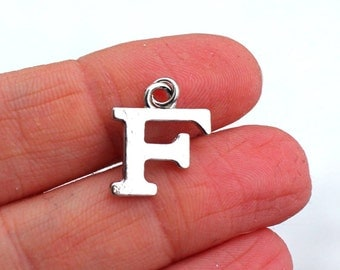 One Letter F, Alphabet Charm, F, Letter F