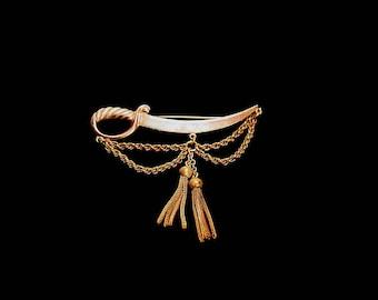 Vintage Sword and Tassel Pin