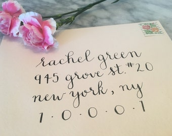 Wedding Invitation Envelope Calligraphy / Hand Written / Custom / Carrie Style