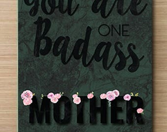 You are one badass Mother! Moedersdag kaart | Mother's day card