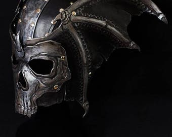 Death leather helmet