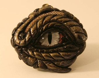 Dragon Eye Fantasy Age Sculpture or Necklace