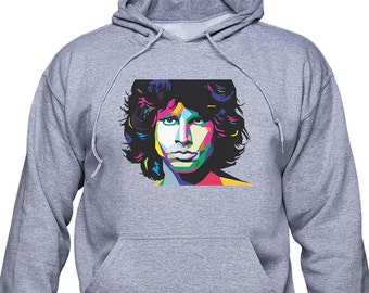Jim Morrison/ The Doors/ Colorful portrait/ unisex hoodie/ unisex sweatshirt/ Best