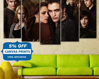 Twilight, Twilight Canvas,  Twilight wall art, Canvas art, Twilight print, Movie canvas print, Movie print, Edward Cullen canvas, 5 panel