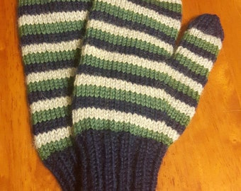 Adult Small Worsted Weight Wool Mittens
