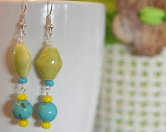 6th pair of Lorraine's Earrings in the Summer Series