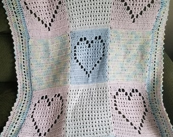 Crochet Heart Baaby Blanket