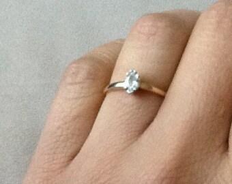 Diamond marquese solitaire ring 0.2 carat