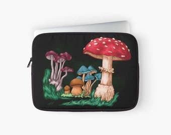 "Mushrooms 12 ""13"" 15 ""laptop computer case"