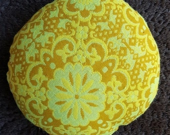 Retro Flower power pouffe/ floor cushion vintage fabric