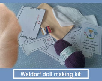 Waldorf doll making kit