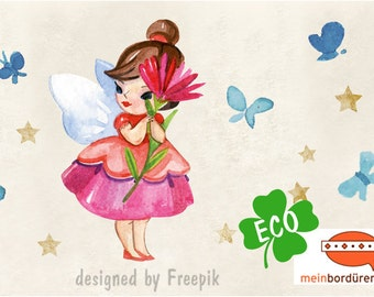 ECO kids trim: little flower fairy - borders for children, border for allergy sufferers, wall border, nonwoven, wall trims, fairy