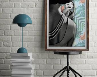 Palm Leaf Print - Tropical Leaf Print - Palm Art Print - Summer Prints - Modern Wall Print