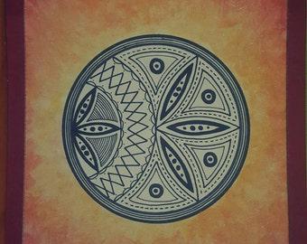 Mandala in fire picture