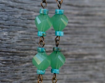Turquoise and Seafoam Green Earrings
