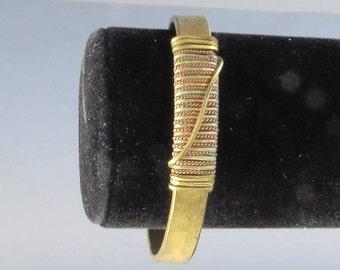 Vintage Adjustable Metal Cuff Wrist Bracelet