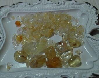 Citrine chip beads, Citrine nuggets, gemstone beads, natural stone, destash, jewelry supplies