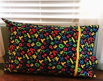 Alphabet Soup Pillowcases