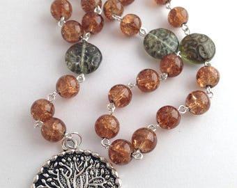 Tree of Life Pagan Rosary // Prayer Beads // Gaia // Danu // Goddess // Druid // Wiccan