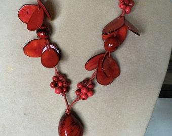 Tagua Seeds Nut Necklace