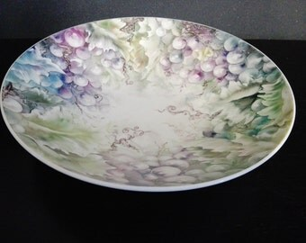 Round tray hand painted