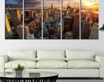 New York City Skyline Wall Art Canvas Print